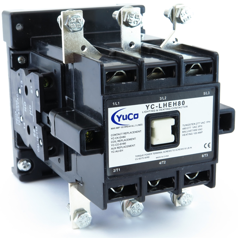 yuco lighting & heating magnetic contactor with mechanical lugs 3p 100a 208v  ac coil